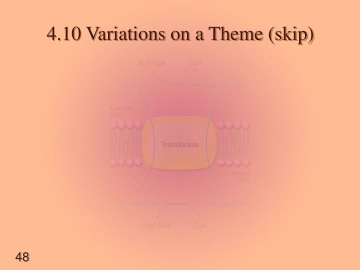 4.10 Variations on a Theme (skip)