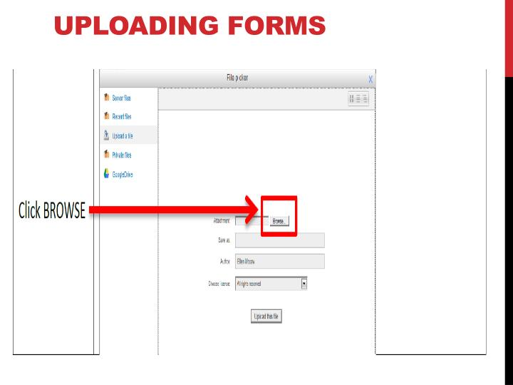 Uploading forms