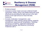 resiliency disease management rdm