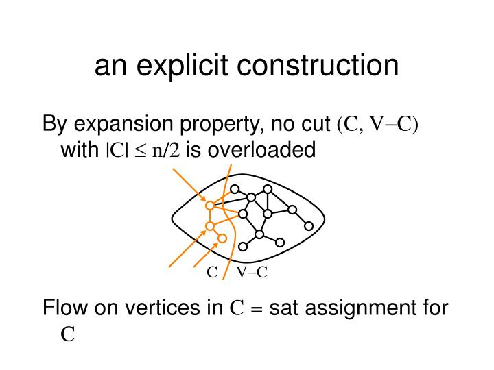 an explicit construction