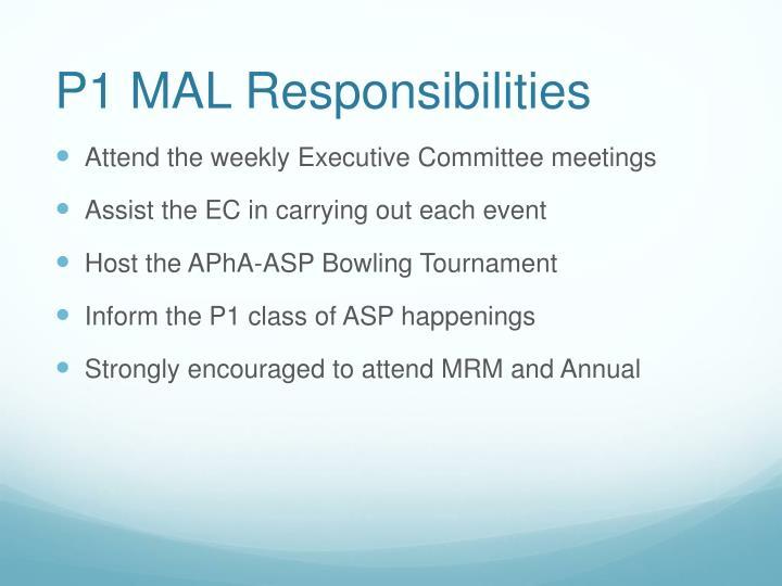 P1 MAL Responsibilities