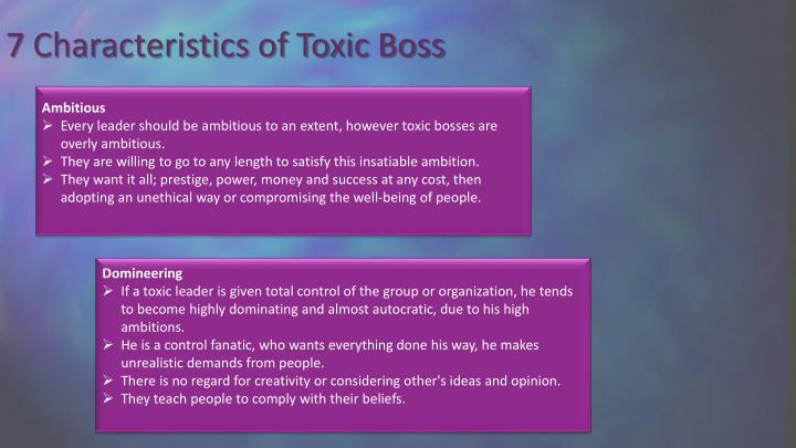 7 Characteristics of Toxic Boss