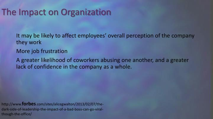 The Impact on Organization