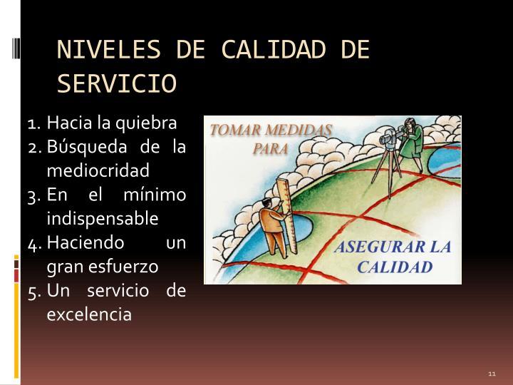 NIVELES DE CALIDAD DE SERVICIO