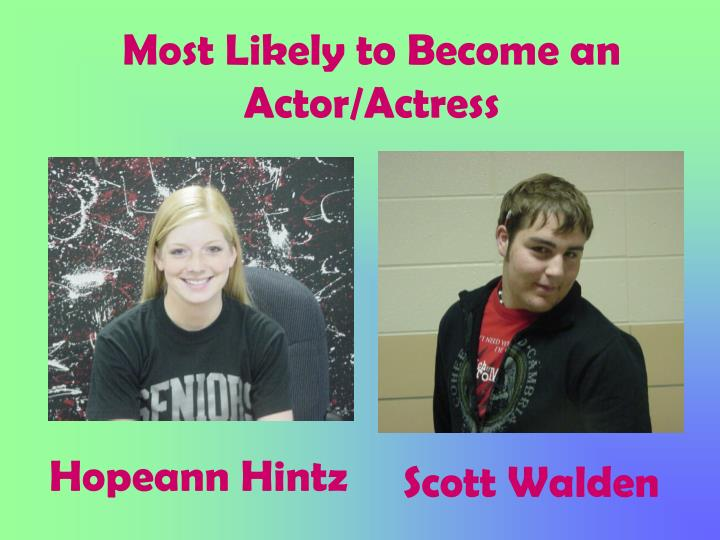 Most Likely to Become an Actor/Actress