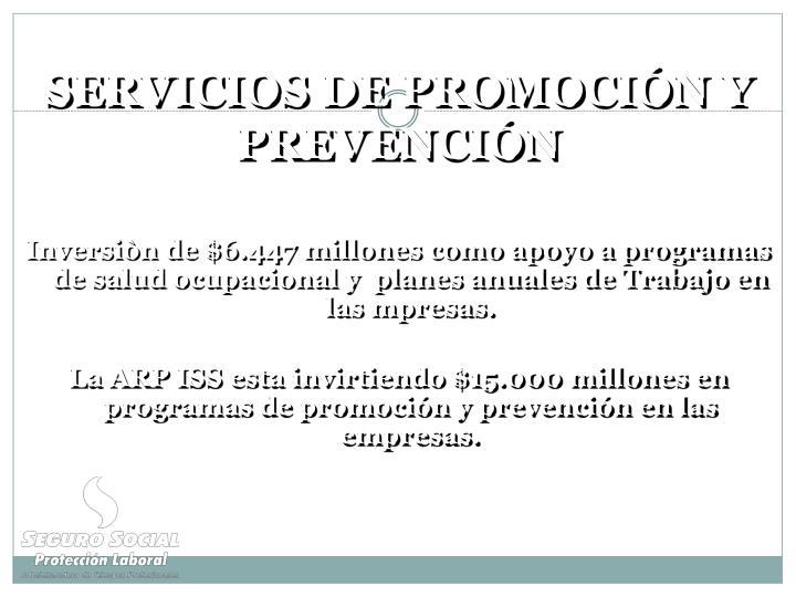 SERVICIOS DE PROMOCIÓN Y PREVENCIÓN