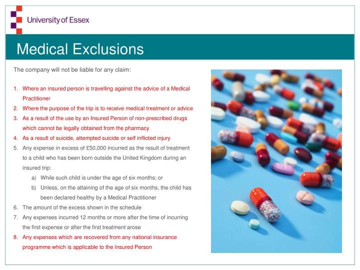 Medical Exclusions