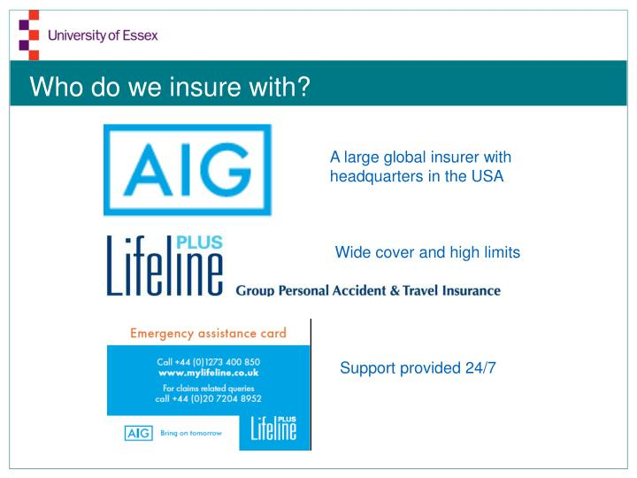 Who do we insure with?