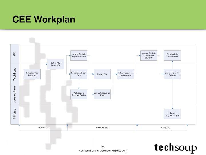 CEE Workplan