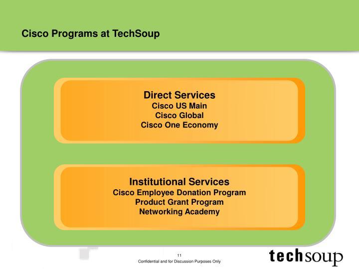 Cisco Programs at TechSoup