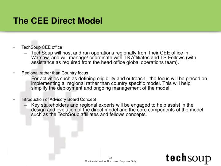 The CEE Direct Model