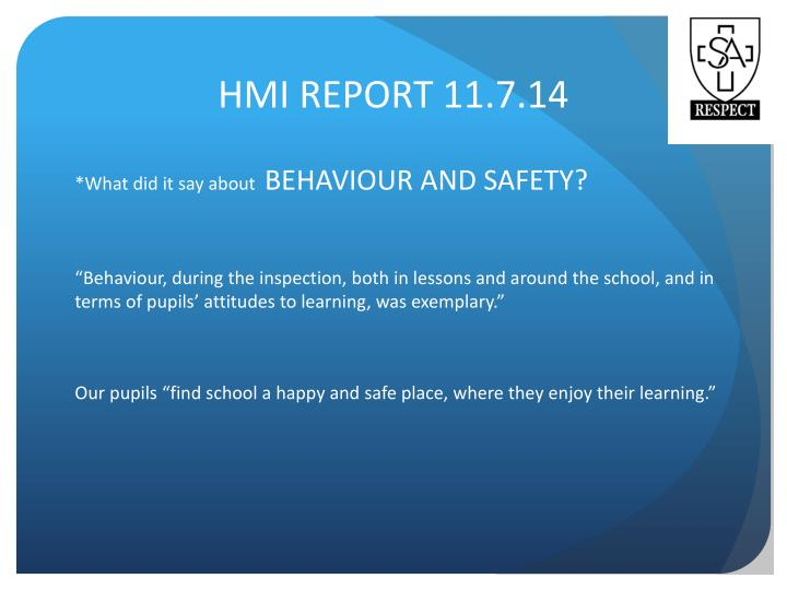 HMI REPORT 11.7.14