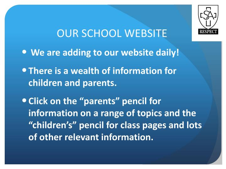 OUR SCHOOL WEBSITE