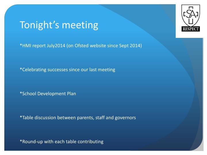 Tonight s meeting