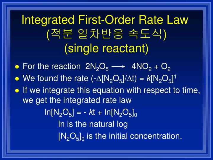 Integrated First-Order Rate Law