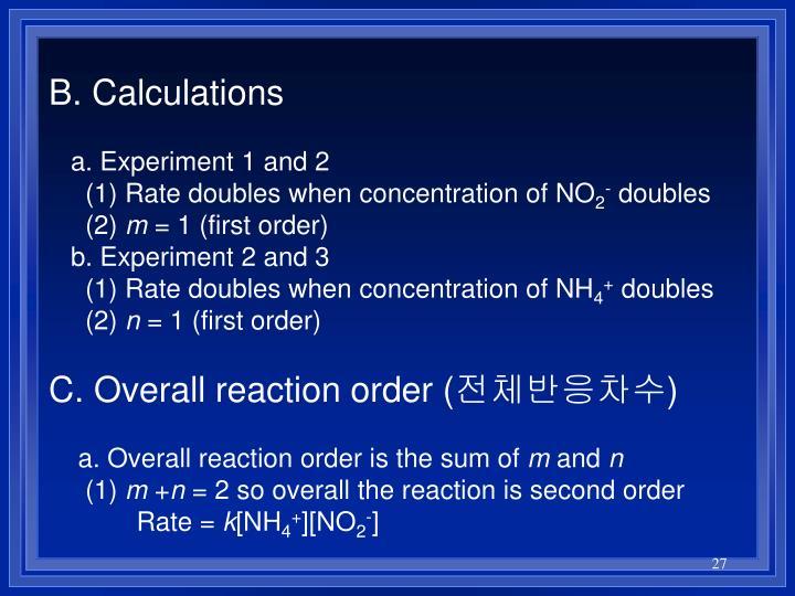 B. Calculations
