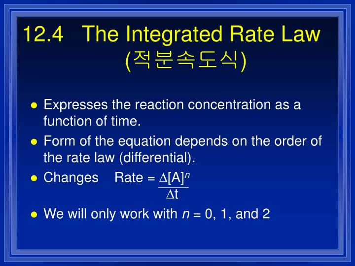12.4   The Integrated Rate Law