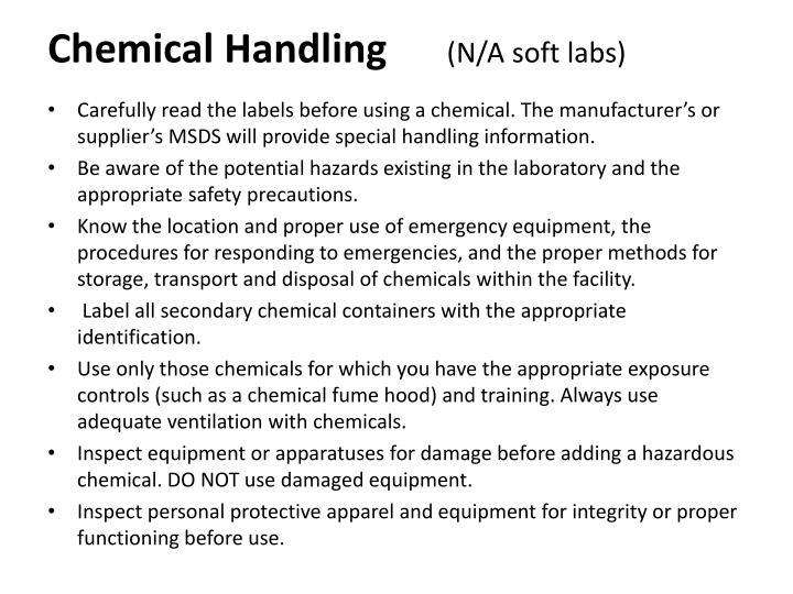 Chemical Handling