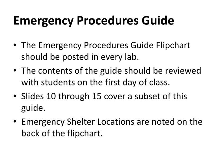 Emergency Procedures Guide