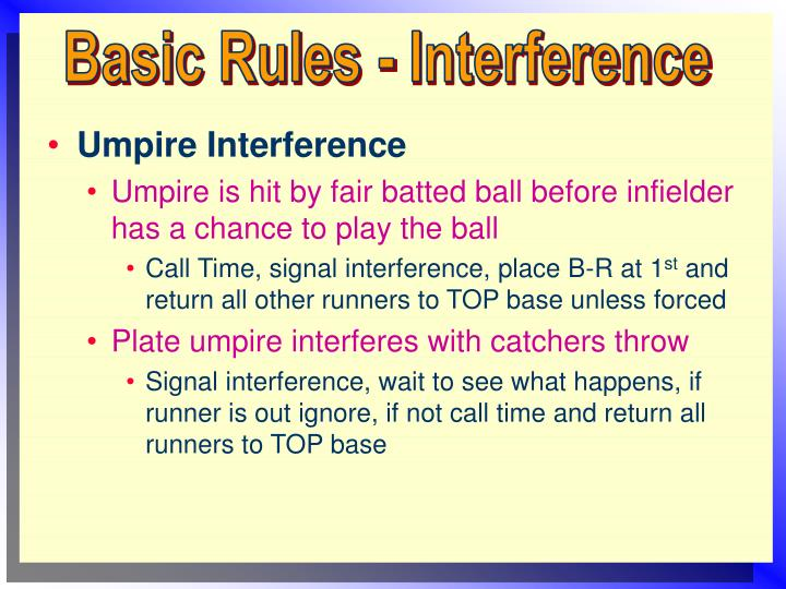 Basic Rules - Interference