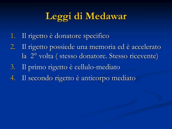 Leggi di Medawar