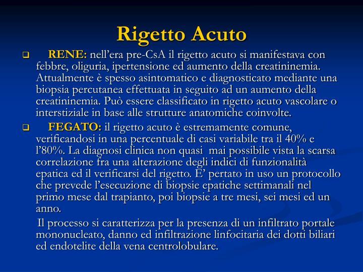 Rigetto Acuto