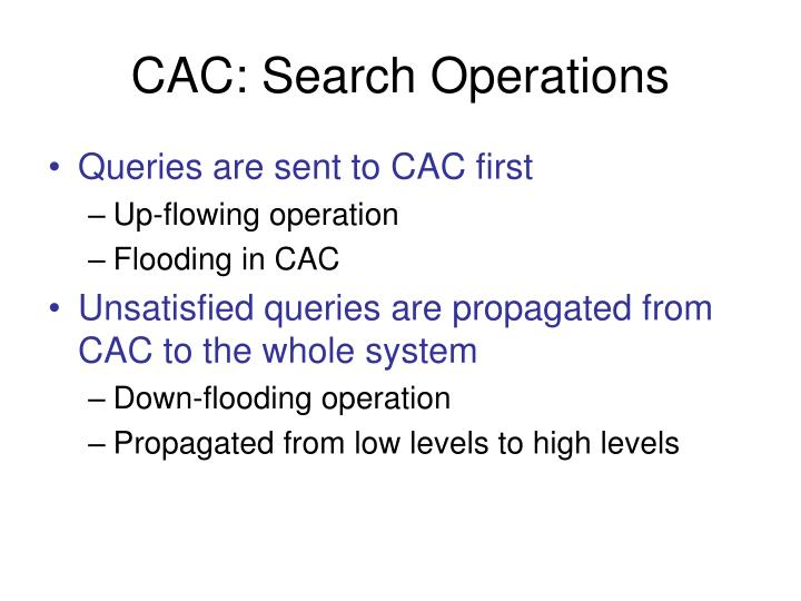 CAC: Search Operations