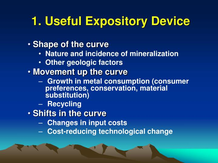 1. Useful Expository Device