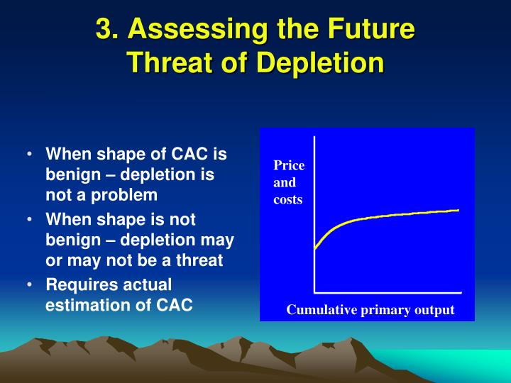 When shape of CAC is benign – depletion is not a problem
