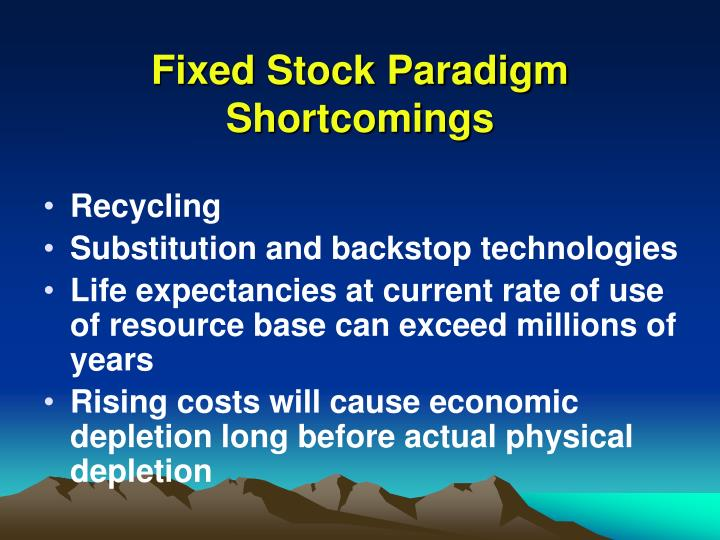 Fixed Stock Paradigm