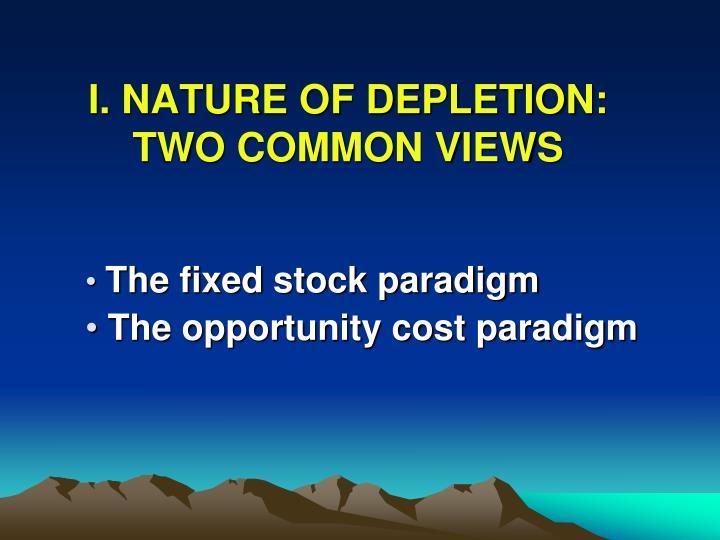 I. NATURE OF DEPLETION: