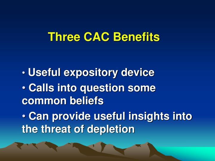 Three CAC Benefits