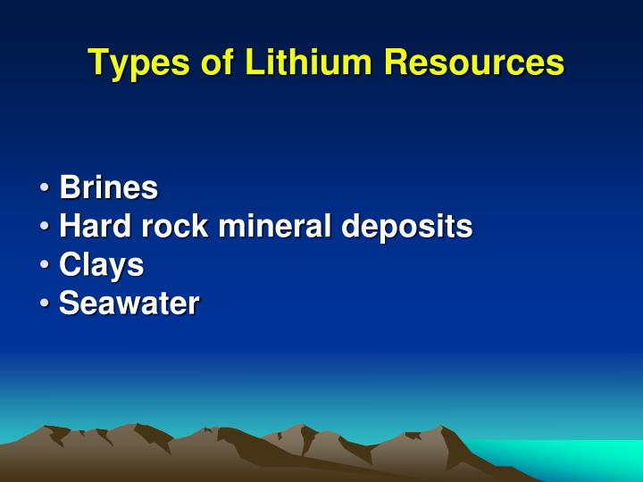 Types of Lithium Resources