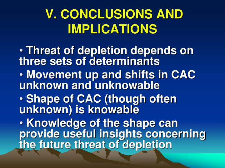 V. CONCLUSIONS AND IMPLICATIONS