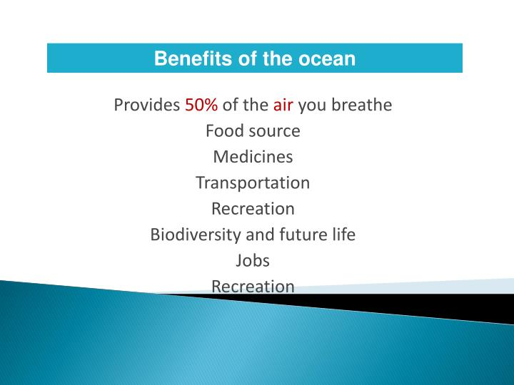 Benefits of the ocean