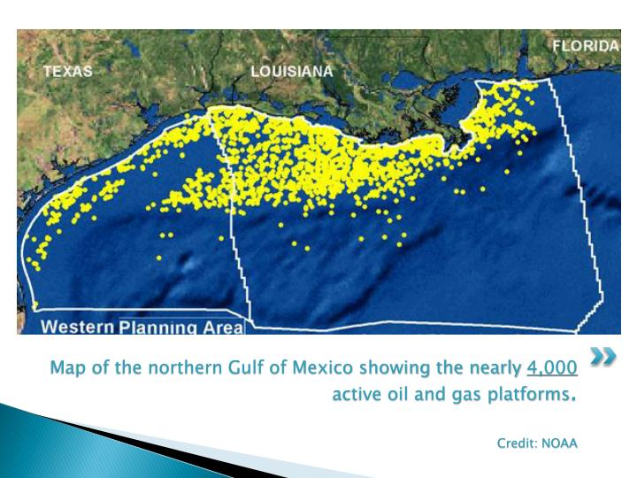 Map of the northern Gulf of Mexico showing the nearly