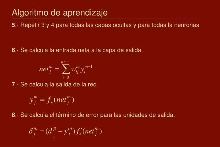 Algoritmo de aprendizaje