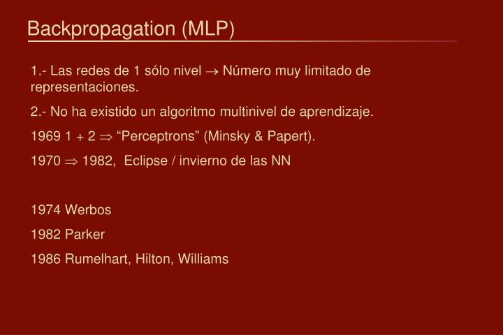 Backpropagation mlp