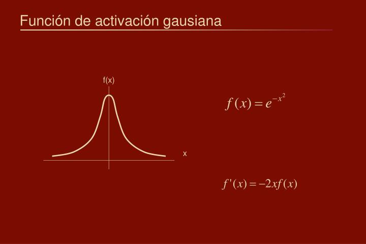 Función de activación gausiana