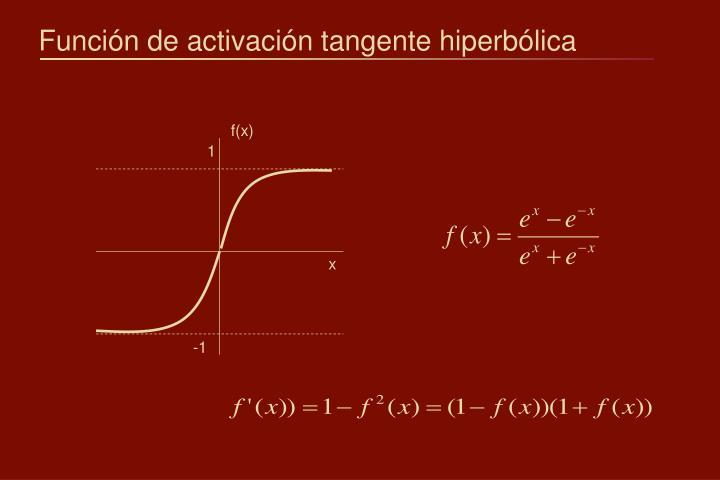 Función de activación tangente hiperbólica