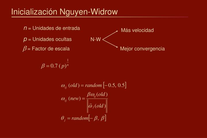 Inicialización Nguyen-Widrow