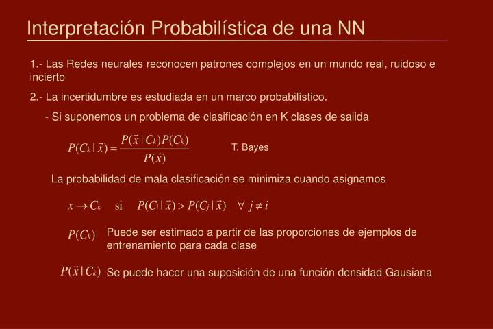 Interpretación Probabilística de una NN