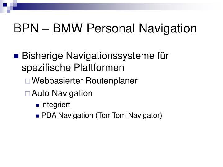 BPN – BMW Personal Navigation