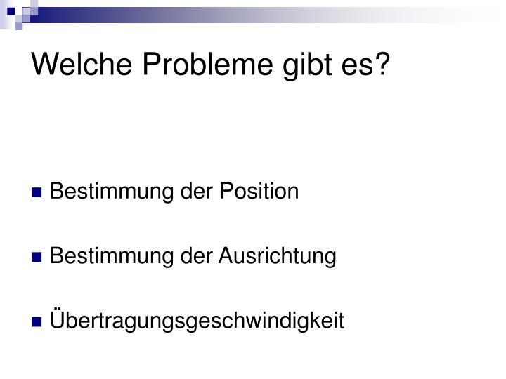 Welche Probleme gibt es?