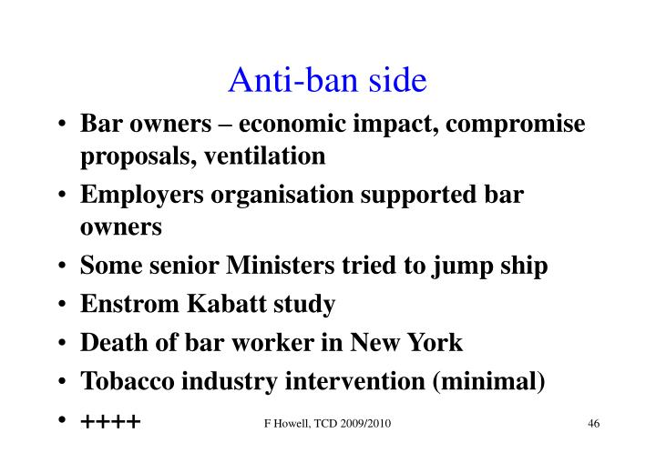 Anti-ban side