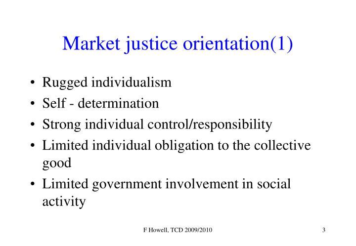 Market justice orientation(1)
