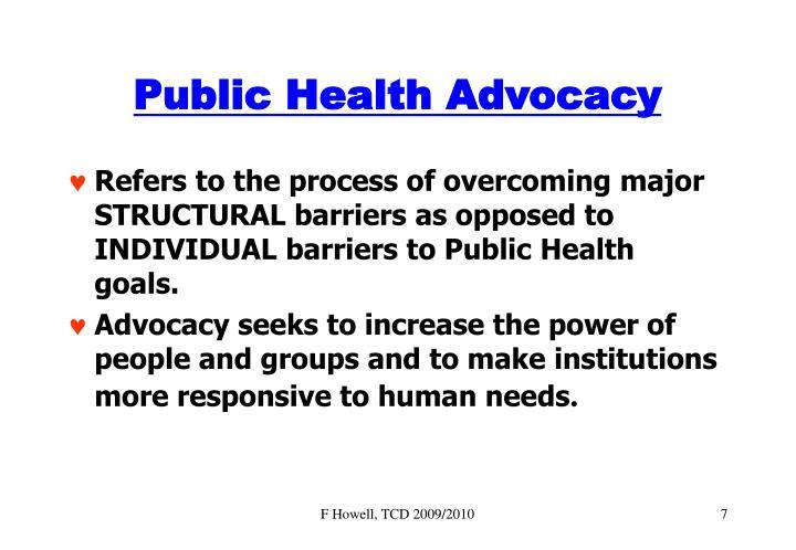 Public Health Advocacy