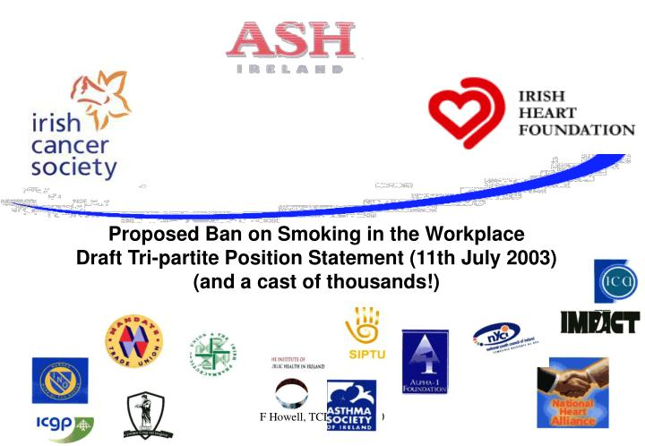 Proposed Ban on Smoking in the Workplace