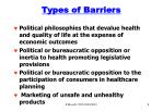 types of barriers