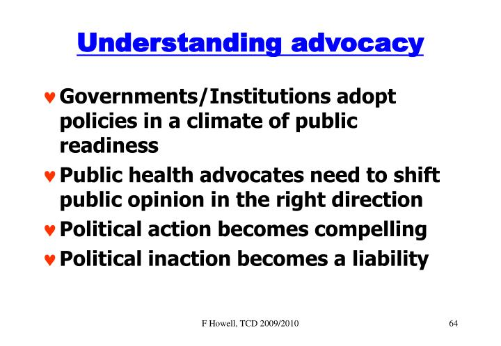 Understanding advocacy